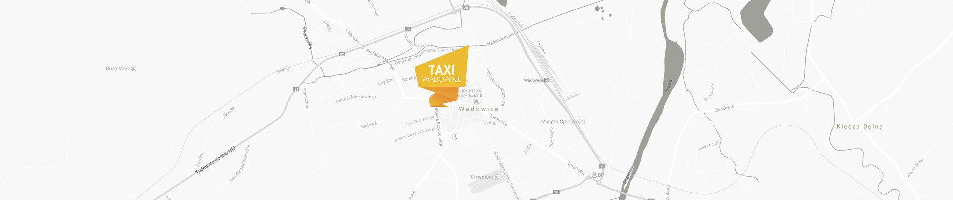 taxi wadowice 604 170 052 mapa